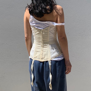 'Merry Widow' Ivory Corset - Vintage