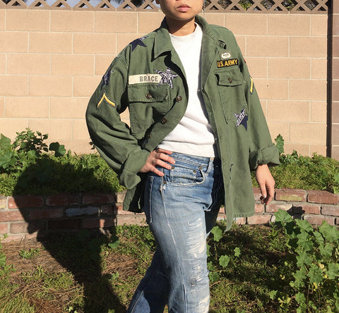 TRS REPAIRED Patched Stars Military Jacket