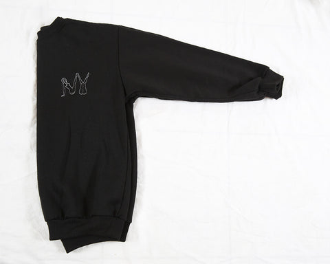 Naked 'NY' Embroidery Sweatshirt - Black