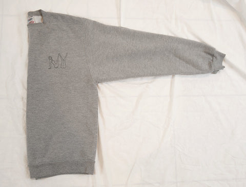 Naked 'NY' Embroidery Sweatshirt - Heather Grey