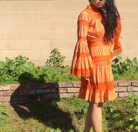 Orange is the New Orange Dress - Vintage
