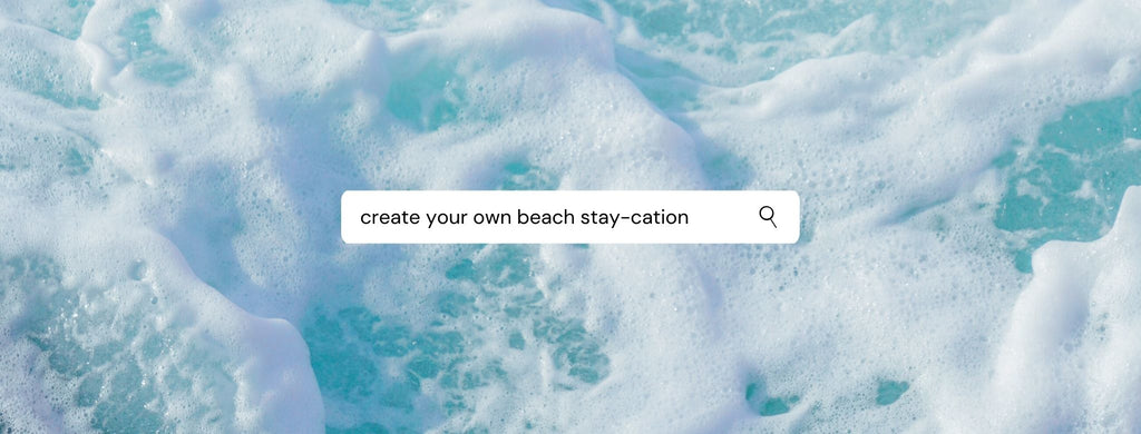 Blue ocean cover searching for ways to create your own staycation during COVID