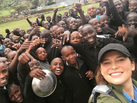 Founder Claire Ellis in Nandi Hills, Kenya at Samoei Boys Secondary School