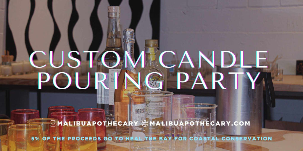 Candle Pouring Party in Bishop arts district of Dallas, Texas. Paint and pour candles
