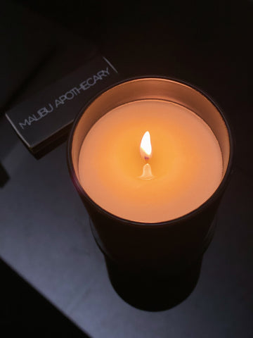 Malibu Apothecary Matte Black Candle First Burn