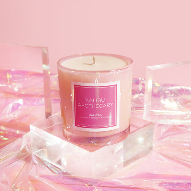 Iridescent Pink Candle 1