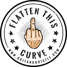 Load image into Gallery viewer, Flatten This Curve Sticker