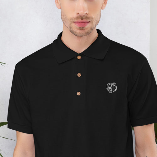 Bear Logo Embroidered Polo Shirt - Southwest Hardcore