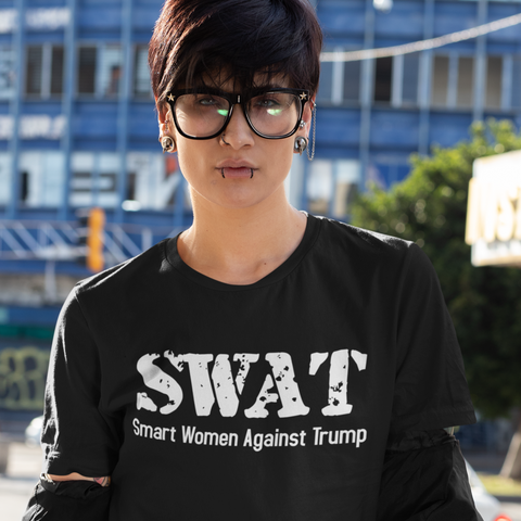 SWAT Smart Women Against Trump Political Protest T-Shirt