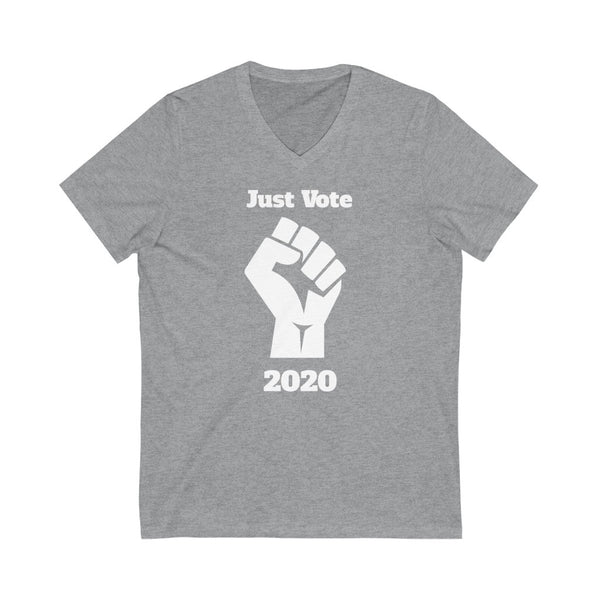 Just Vote 2020 V-Neck T-Shirt - PolitiCoolClothing