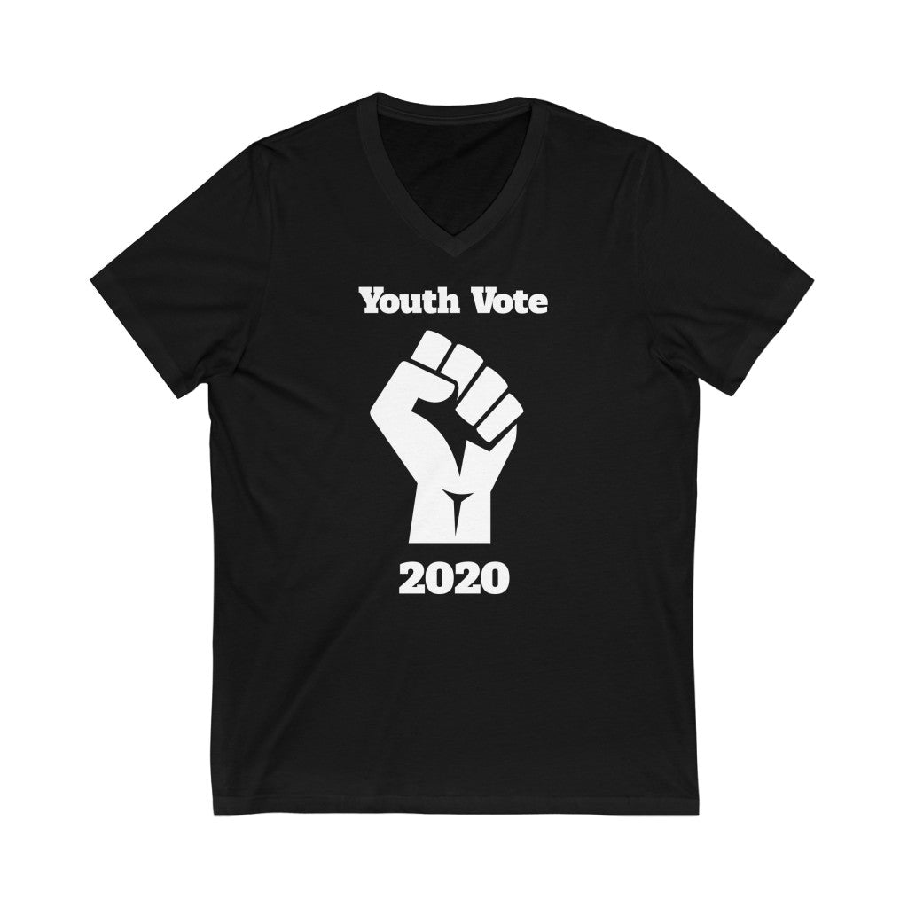 Youth Vote 2020 V-Neck T-Shirt - PolitiCoolClothing