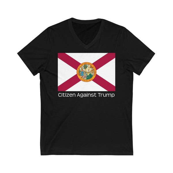Florida's Citizen Against Trump V-Neck T-Shirt #CitizenAgainstTrump - PolitiCoolClothing