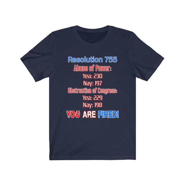 Resolution 755 Impeached T-Shirt - PolitiCoolClothing