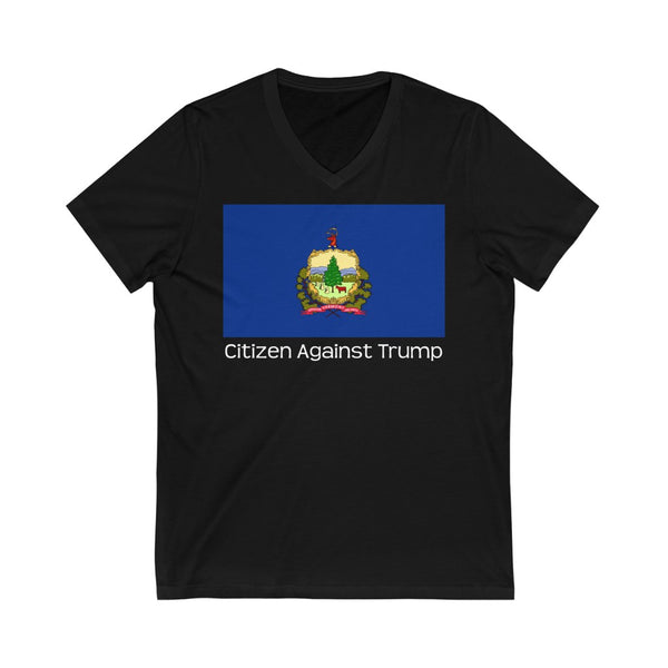 Vermont's Citizen Against Trump V-Neck T-Shirt #CitizenAgainstTrump - PolitiCoolClothing