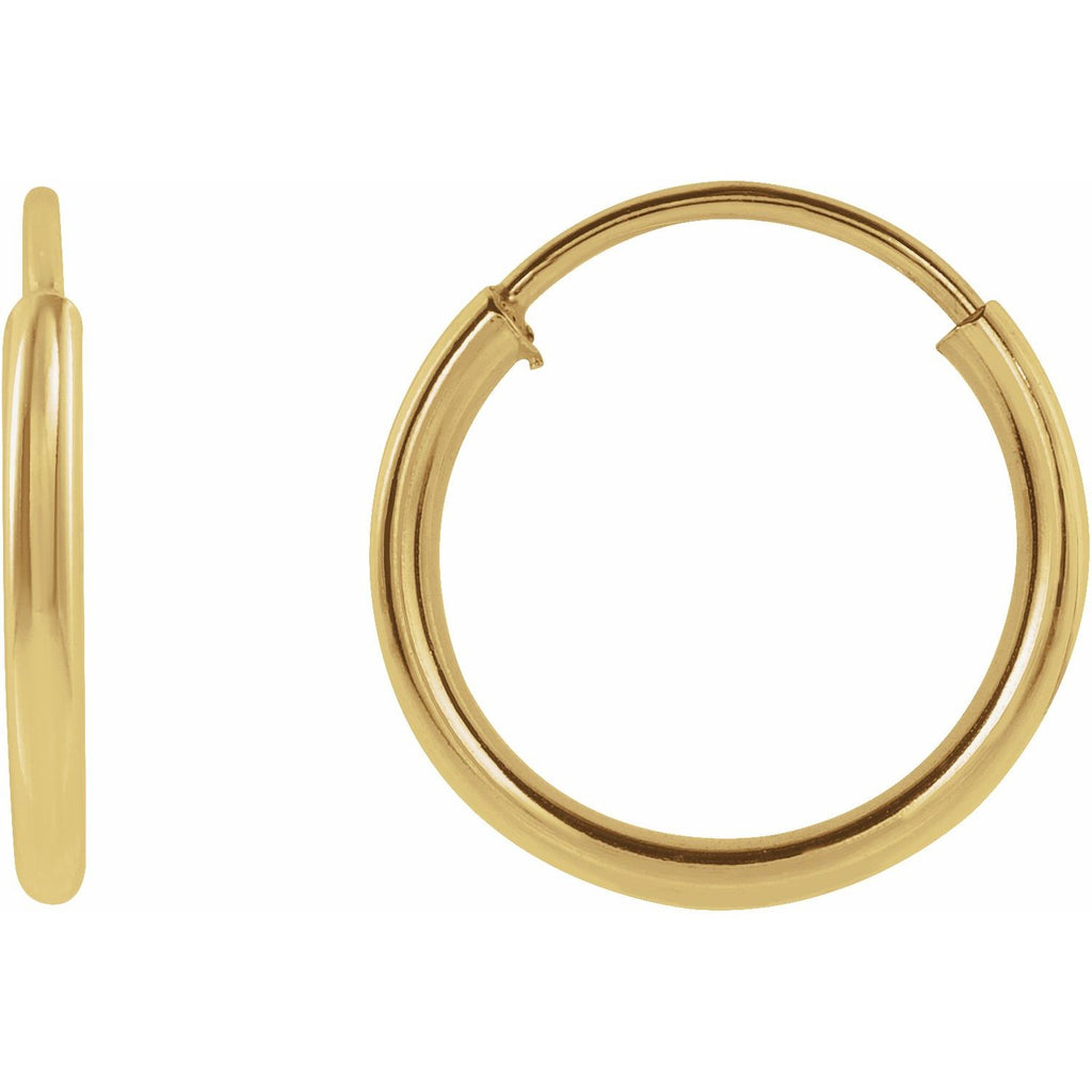 Gold Flexible Hoops