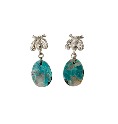 Bee with Turquoise Drop Earrings