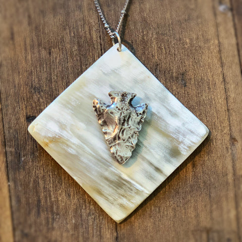 Large Square Pendant with Arrowhead