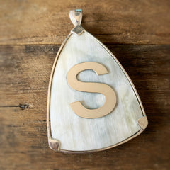Fannie Custom Initial Pendant, Blonde