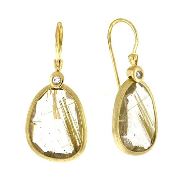 Rutilated Quartz Earring