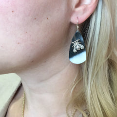 Small Shield earrings with Bee