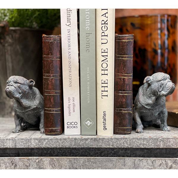 These two are pretty serious about looking after your books. Made from resin and vintage style they would make a great addition to any bookcase.  Size: single - H17xL12xW10 cm