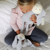 nap time bunny collection Straight to sleep every time with the Nap Time Bunny to cuddle!  Nap Time Bunny Comforter is made from snuggly, soft jersey and will make the perfect friend for your baby.  Size: Soft Toy - 40 x 12cm Comforter - 27 x 23cm