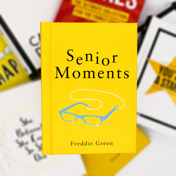 You know you're having a senior moment when… … you need a pen and paper just to order a round of drinks. Getting old? Join the club! This upbeat collection of all-too-common mishaps, sprinkled with quotes from wise old sages, will have you nodding in agreement and chuckling at all your loveable foibles.  Hardcover  160 pages  Size: 10 W x 14 H cm
