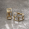 Square Hoop Gold Earrings Lead | Nickel | Cadmium Free  Size: D2.3cm Antler Jewellery