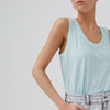 The Brooke Tank is our take on the classic crafted from 100% GOTS Certified Organic Cotton. This new relaxed fitting tank has a U-shape ribbed neckline and hemline.  STYLE DETAILS: • Rib neck & arm hole finish • Sleeveless • Round neck & hem • Fabric: 100% GOTS Certified Organic Cotton Slub (Global Organic Textile Standard)  SIZE & FIT: Relaxed fit. Length: Front 71cm / Back 74cm