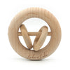 LEO features 2 round rings that slide and make a subtle sound when shaken.   Very popular for those wanting a natural teether + rattle.   Beechwood is perfect for teething babies, hard wearing + naturally antibacterial  Eco-friendly, easy to grasp and rattle.  LEO also makes a wonderful keepsake piece for your little one.