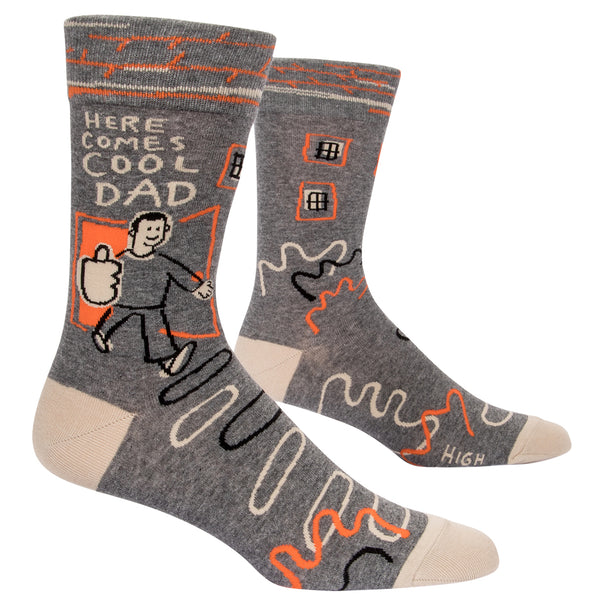 Heyyyyyy, Cool Dad! Cool Dad making Cool Dad jokes, giving Cool Dad high fives, living his best Cool Dad life. Gosh, I love you, Cool Dad.  Men's shoe size 7-12.  50% combed cotton; 48% nylon; 2% spandex.