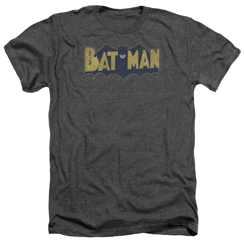 Batman - Vintage Logo Splatter Adult Heather
