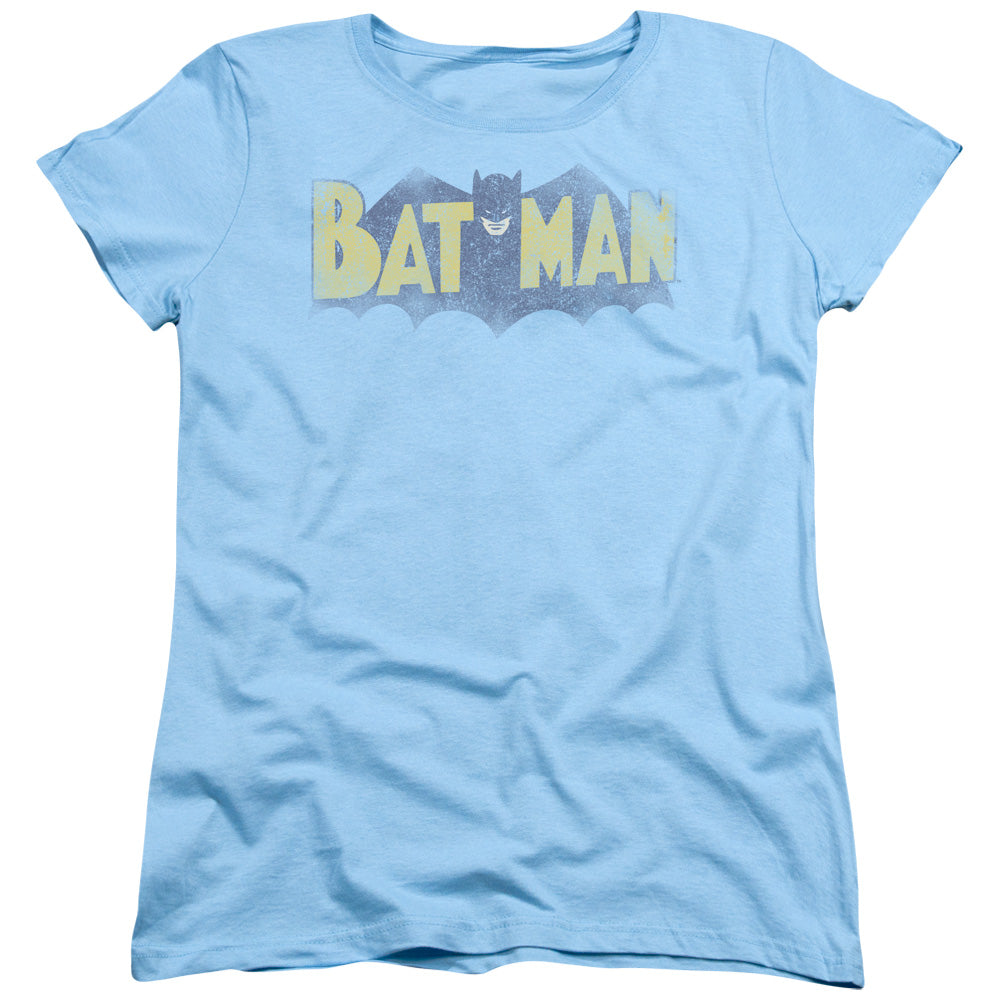 Vintage Distressed Batman DC Comics Logo Graphic Women's Tee