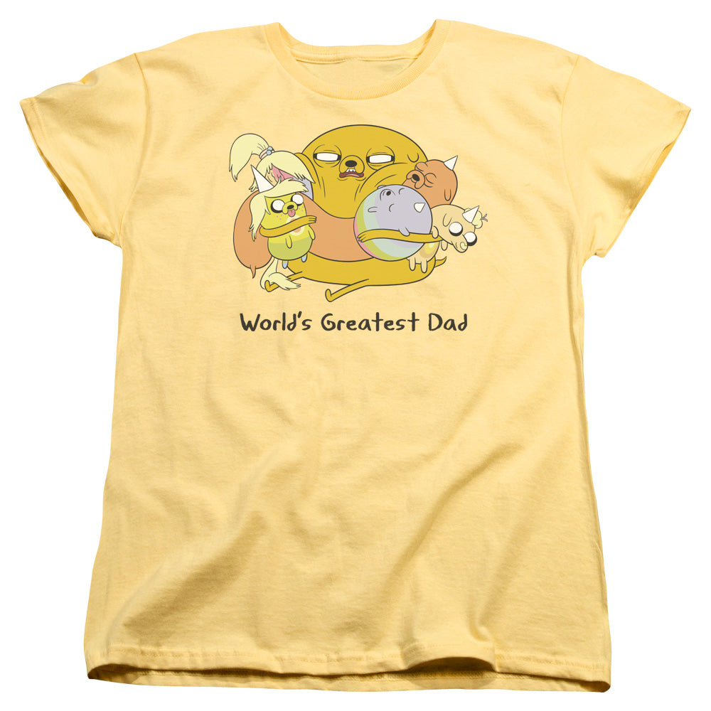 "Jake the Dog Adventure Time ""World's Greatest Dad"" Women's Tee"