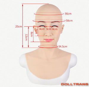 Full head silicone Kelly female mask party costume Crossdress Cosplay for TG CD Dragqueen Ladyboy