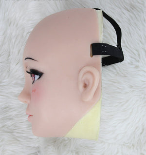 Half head Kagura silicone mask party costume Crossdress Cosplay for TG CD Dragqueen Ladyboy