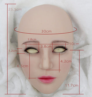 Half head Norika silicone mask party costume Crossdress Cosplay for TG CD Dragqueen Ladyboy