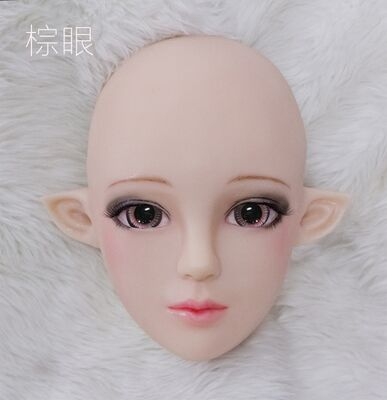 Half head Spirit silicone mask party costume Crossdress Cosplay for TG CD Dragqueen Ladyboy