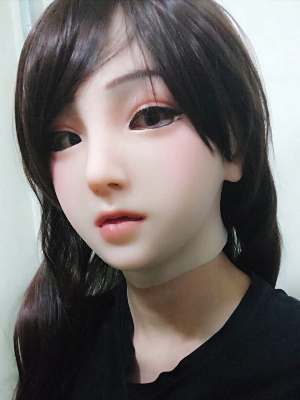 Full head silicone Emily doll mask party costume Crossdress Cosplay for TG CD Dragqueen Ladyboy