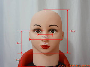 Full Head Female Doll Mask Laner Kigurumi Halloween Cosplay Male to Female for Crossdresser Transgender Rubber Sisters