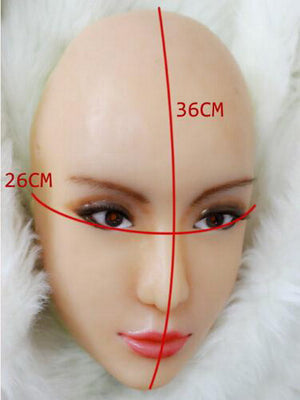 Half head silicone Ching mask party costume Crossdress Cosplay for TG CD Dragqueen Ladyboy