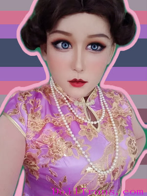 Full head Hepburn female mask with Fake eyes for Crossdress Cosplay TG CD Dragqueen Ladyboy