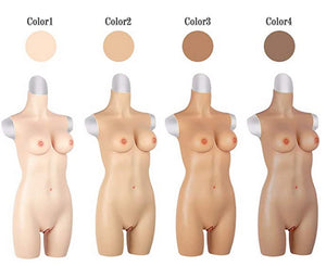 Half body Style Silicone Breasts D-Cup Torso for Crossdress Cosplay for TG CD Dragqueen Ladyboy