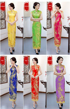 Luxury Chest-Open China dress for big boobs transformation for party costume Crossdress Cosplay TG CD Dragqueen Ladyboy