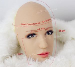 Half head Rose silicone mask party costume Crossdress Cosplay for TG CD Dragqueen Ladyboy