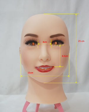 Full head smiling Lucy mask party costume Crossdress Cosplay for TG CD Dragqueen Ladyboy