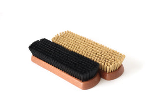 Synthetic shoe brush