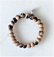 Load image into Gallery viewer, Ebony Prayer Bead Bracelet