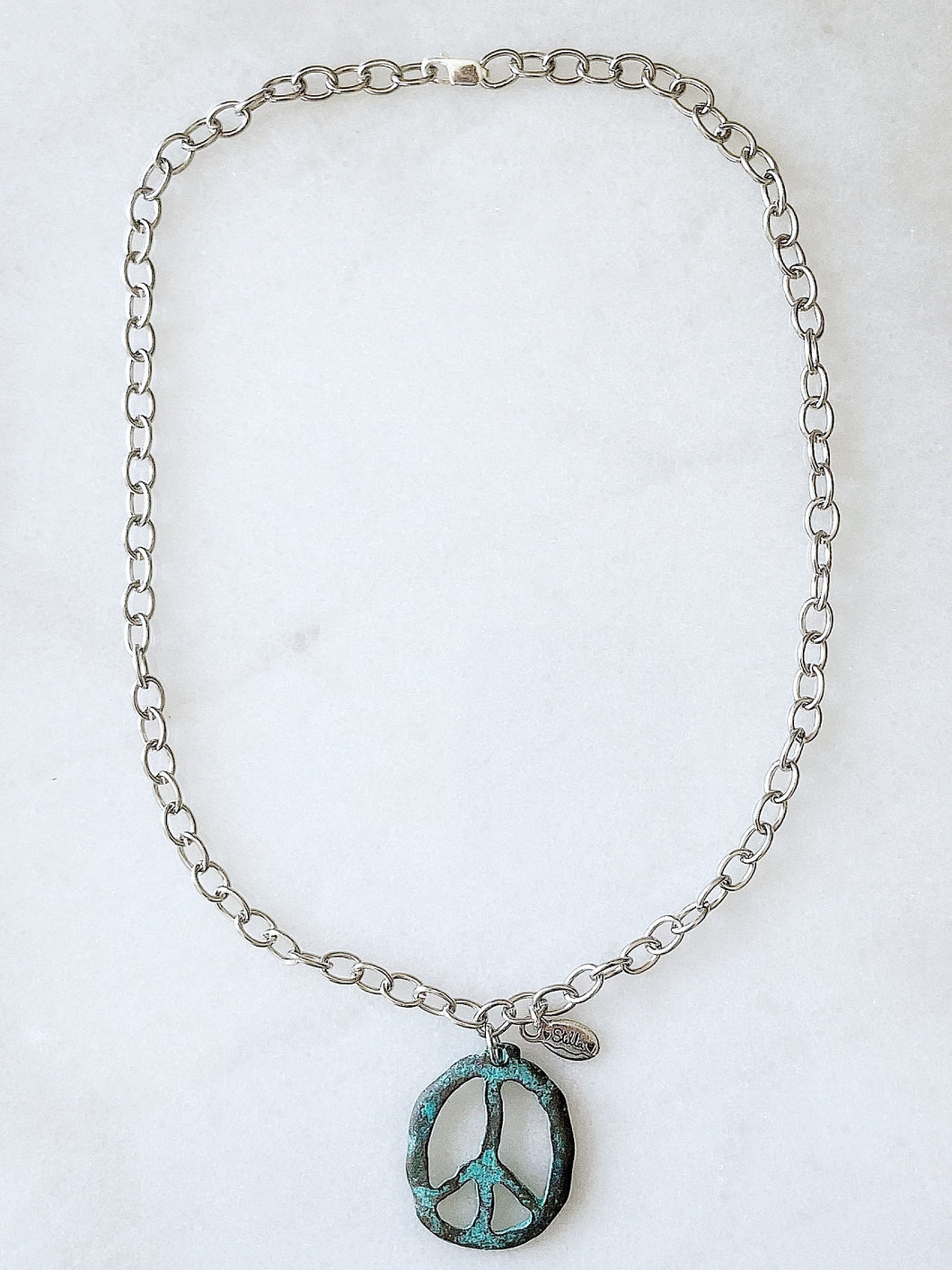 "Peace~ Out 2020 Necklace ""Patina"""