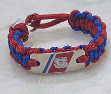 Load image into Gallery viewer, Coast Guard Paracord Bracelet
